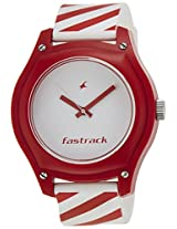 Fastrack Tees Analog White Dial Unisex Watch - 9951PP02