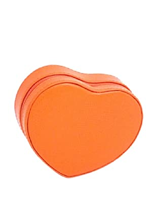 Heart Shaped Travel Jewelry Storage, Orange