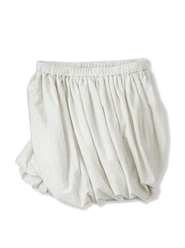 kicokids Girl's Jersey Twisted Bustle Skirt (Milk)