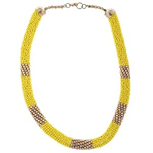 The Crazy Neck Yellow Beads Neck Piece Necklace