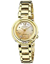 Citizen Analog Beige Dial Women's Watch - EM0328-57P