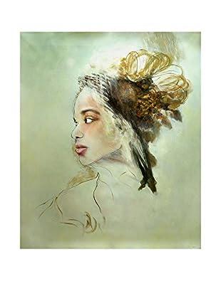 Legendarte Pintura al Óleo sobre Linezo Volto Esotico