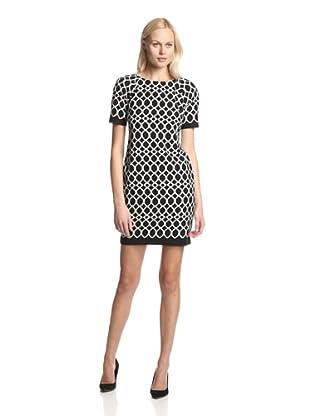 Taylor Women's Short Sleeve Dress (Black/ivory)