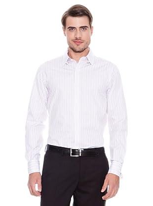 Brooks Brothers Camisa Vestir Ringo (Blanco / Rojo)