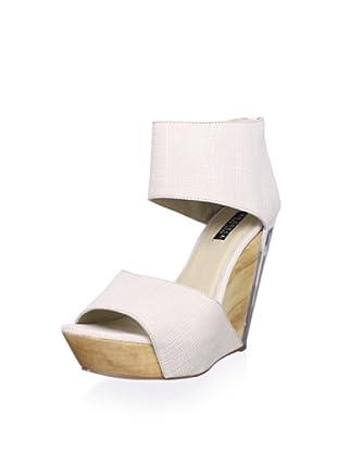 Messeca Women's Carlie Double Band Wedge Sandal (Egg Texture)