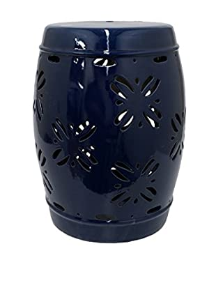Three Hands Garden Stool, Dark Blue