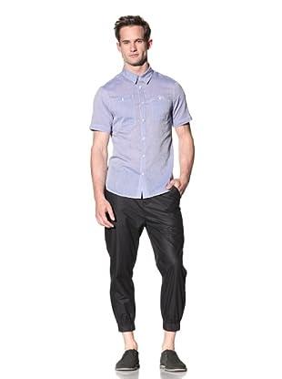 Nicholas K Men's Jackson Lightweight Woven Shirt (Periwinkle)