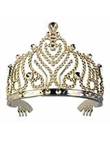 Tiara - Plastic with Combs Gold