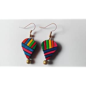 Shingles d'sire Small Dangler Earrings in Multi Color