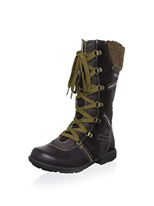 Billowy Kid's Laced Tall Boot (Brown)