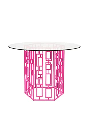World's Away Jackson Outdoor/Indoor Dining Table (Pink)