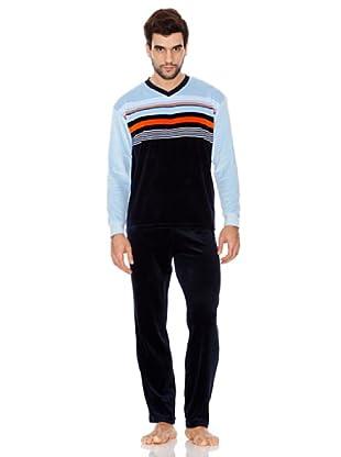 Basket Pijama Caballero (marino)