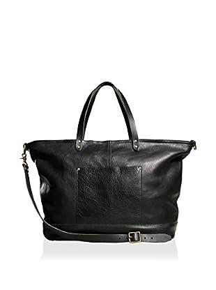 TM1985 Allen Leather Duffle, Black