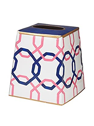 Jayes Square Tissue Box Cover, Pink