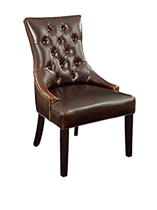 Bassett Mirror Co. Fortnum Tufted Nailhead Chair, Brown