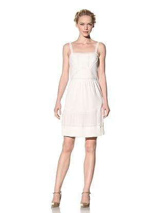 Philosophy di Alberta Ferretti Women's Knit Dress with Crochet Trim (White)