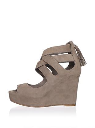 Dolce Vita Women's Jade Wedge Sandal (Grey Nubuck)