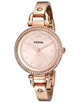 Fossil Georgia Analog Rose Gold Dial Women's Watch - ES3226