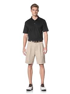 PGA Tour Men's Solid Polo (Caviar)