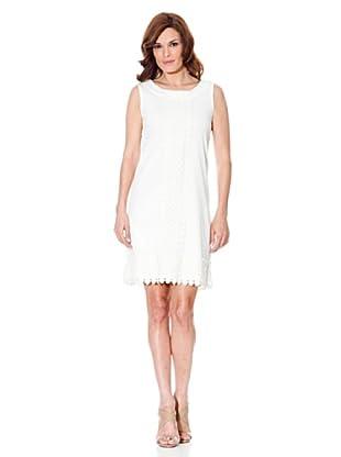 Cortefiel Kleid Stickerei (Weiß)
