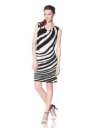 Les Copains Women's Zebra Print Dress (Black/White)