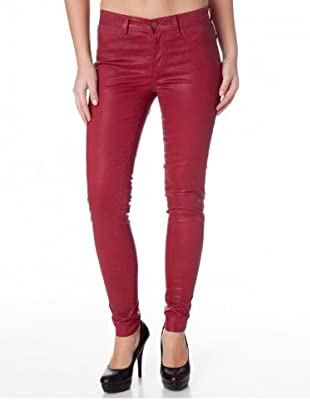 J Brand Leggings Low Rise Satin (coatedred)