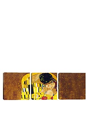 iCanvasArt Gustav Klimt: The Kiss Panoramic Giclée Triptych