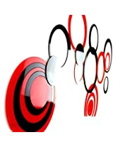 Naveed Arts - 3D Acrylic Mirror Wall Décor stickers for home & Office - Black & Red, 10 Ring + 3 Free Rings Diwali Gift - JB019S2BR - Factory Outlet, Premium Quality