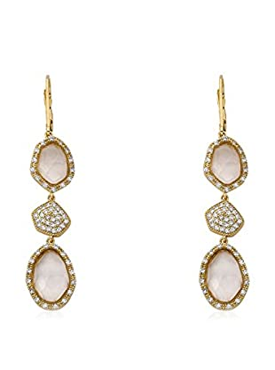 Riccova City Lights Faceted Glass & CZ Pavé Triple Drop Earrings, Gold