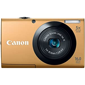 Canon A3400 16 MP Point and Shoot Digital Camera (Gold) with 5x Optical Zoom