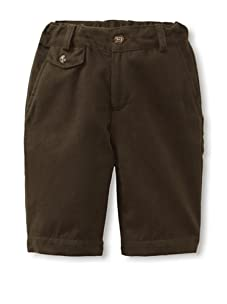 Peas and Queues Boy's Connor Shorts (Khaki Twill)