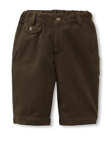 Peas and Queues Boy's Connor Shorts (Khaki Twill)
