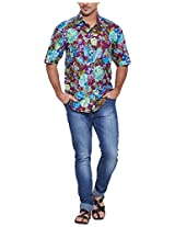 Very Me Men's Casual Shirt_1123_Purple and Blue_34