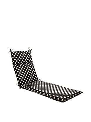 Waverly Sun-n-Shade Solar Spot Ebony Chaise Lounge Cushion (Black/Cream)