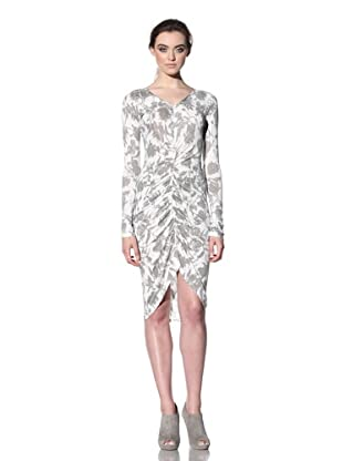 THAKOON CARBON COPY Women's Ruched Front Dress (Sepia/White)