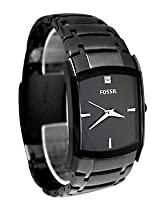 Fossil FS4159 Zane Diamond Black Dial Stainless Steel Bracelet Men Watch [Watch]