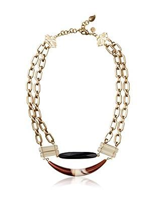 David Aubrey Brass Chain & Multi-Stone Necklace