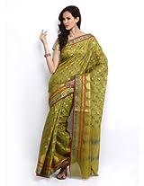 Bunkar Cotton Baranasi Fancy Multi Work Sareefor women