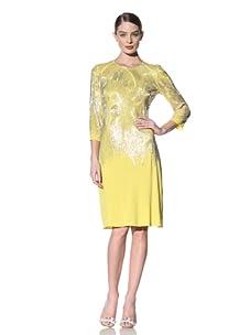 Naeem Khan Women's Long Sleeve Beaded Cocktail Dress (Yellow)
