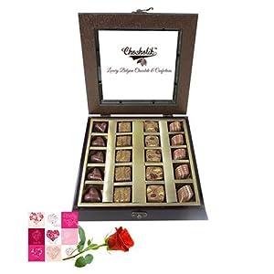 Belgium Chocolates - Flavorings Chocolate with Beautiful Wooden Box