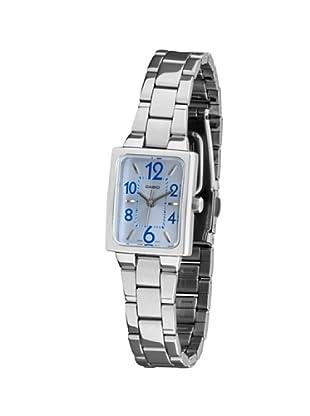 Casio LTP1294D2A - Reloj de Señora brazalete metálico dial Azul