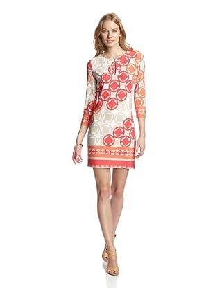 Ali Ro Women's Hallie Keyhole Dress (Tangerine Multi)