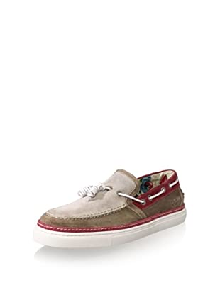 Vince Camuto Men's Tesino Sneaker (Taupe/Red)