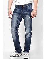 Washed Blue Regular Fit Jeans