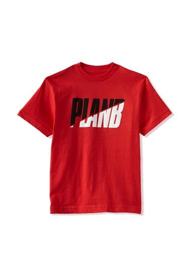 Plan B Boy's Slice Short Sleeve Tee (Red)