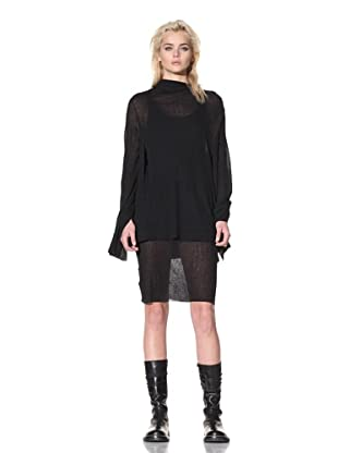 Ann Demeulemeester Women's Knit Top with Back Tie (Black)