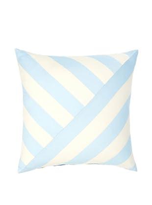 Image by Charlie Azure Decorative Pillow, Aqua/Off-White, 20