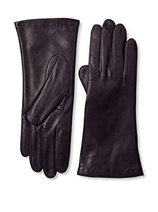 Portolano Women's Cashmere Lined Leather Gloves (Dark Currant)
