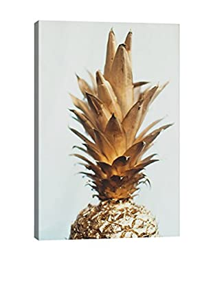 Chelsea Victoria The Gold Pineapple Canvas Print