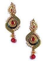 Exclusive Multicolor Kundan Traditional Earring - J0101054